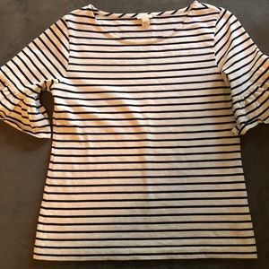 J. Crew striped shoe sleeved bell shirt